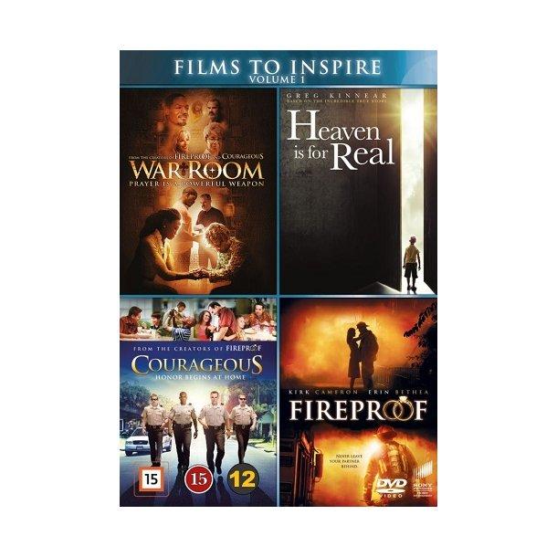 Films to Inspire Vol. 1 (DVD-box) - 4 disc - dansk tekst