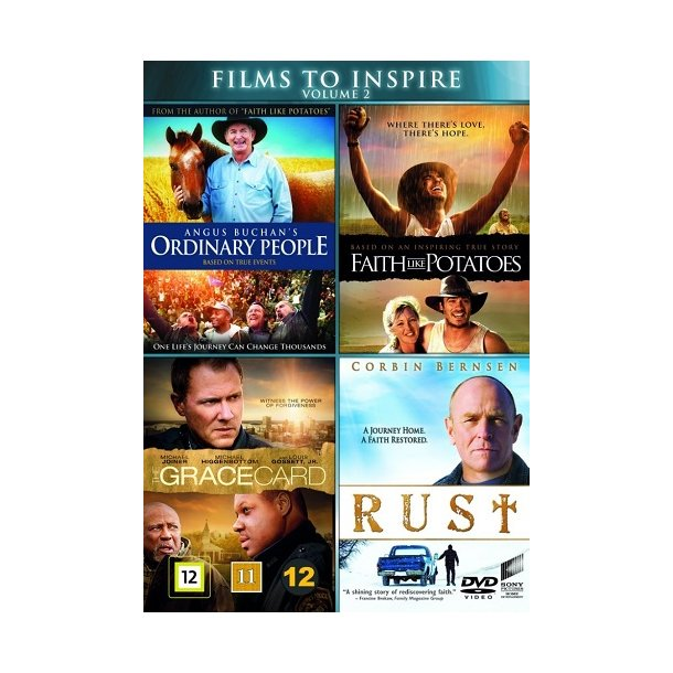 Films to Inspire Vol. 2 (DVD-box) - 4 disc - dansk tekst