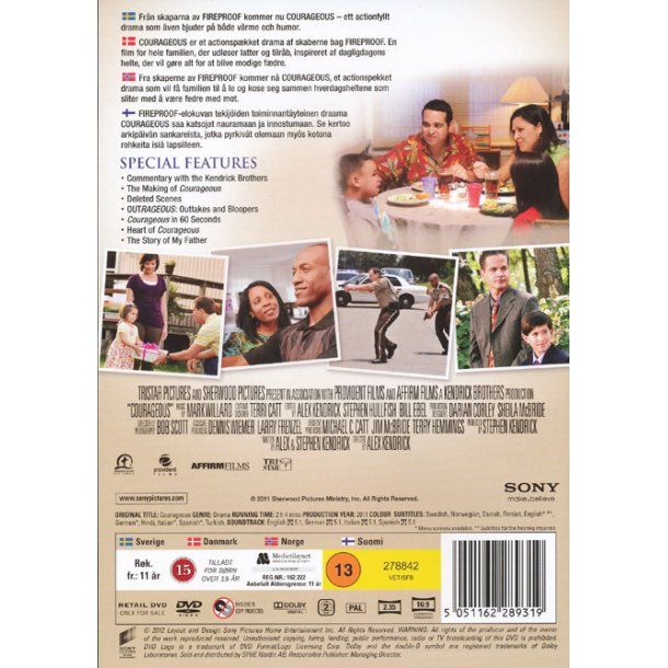Courageous - Honor begins at home (DVD) - dansk tekst