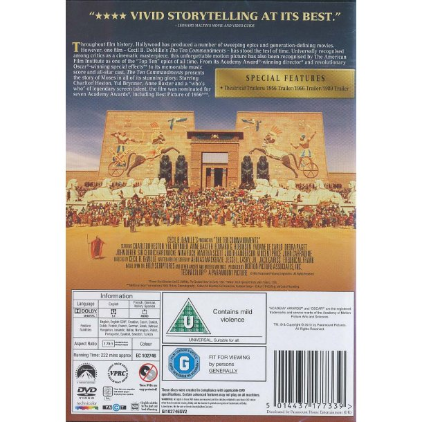 The Ten Commandments (Blu-ray) De ti bud